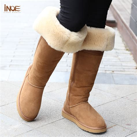 Fur Heels Boot Premium Quality Big Promo Fashion Import fashion style the knee high bowknot fur lined snow boots for winter shoes