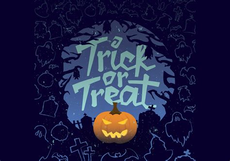 Trick Or Treat Graphic 13 trick or treat o lantern vector free