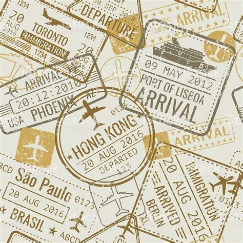 passport background pattern vector vintage travel visa passport sts vector seamless