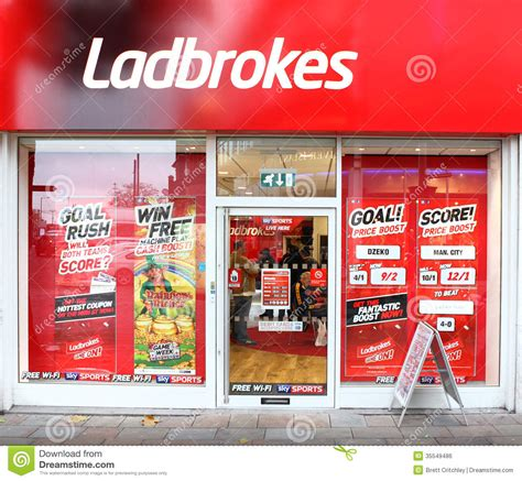 Ladbrokes Gift Card Uk - ladbrokes gambling betting bookies editorial photo image 35549486