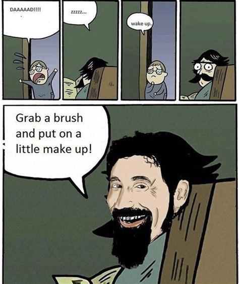 Serj Tankian Meme - daaaaad zzzzz wake up stare dad music serj