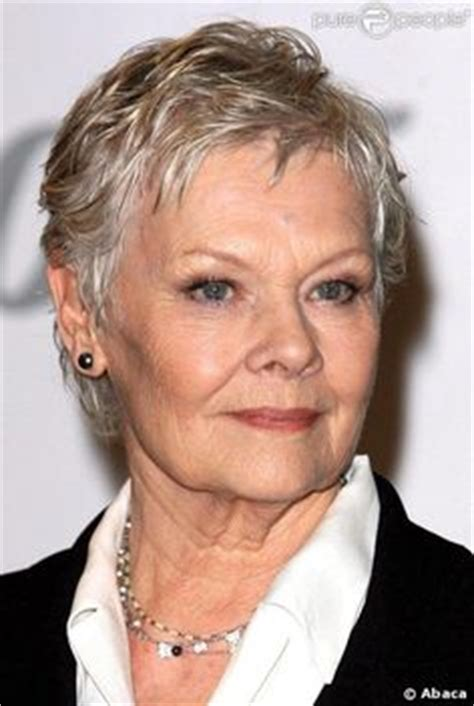 judi dench haircut point cut short pixie short hair styles and for women on pinterest