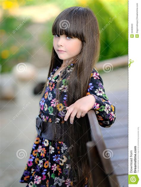 portrait of a beautiful little girl stock image image 34403643