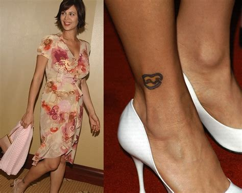 love tattoo on ankle