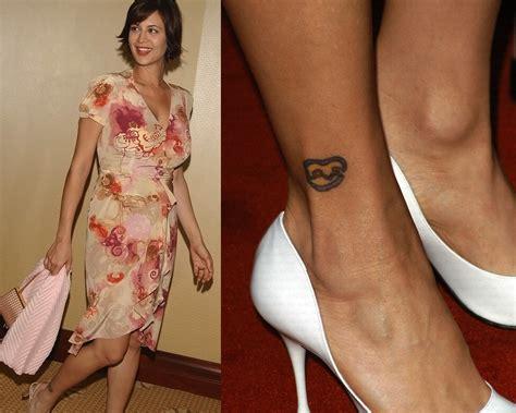 love tattoo on ankle