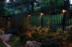 outdoor fence lighting lighting for shrubs touchstone accent lights