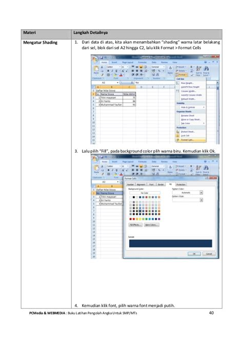 tutorial microsoft excel 2010 untuk pemula ebook tutorial microsoft excel untuk pemula smp