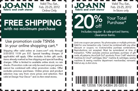 joann fabric joann fabrics printable coupons february 2013