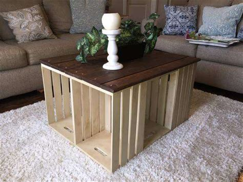 crate table diy pallet and crate coffee table 101 pallets