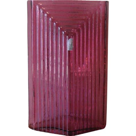 vintage 1980 s column vase in cranberry from the
