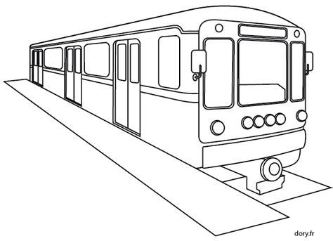 Dessin 224 Imprimer Le M 233 Tro Dory Fr Coloriages Coloriage Dessin Train A Colorier L