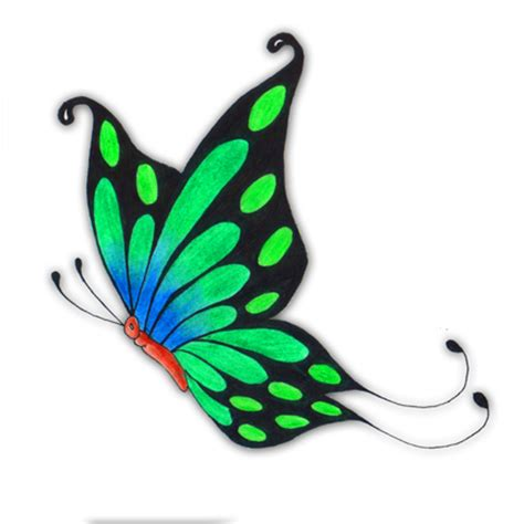 sideways butterfly tattoo stencil pictures to pin on