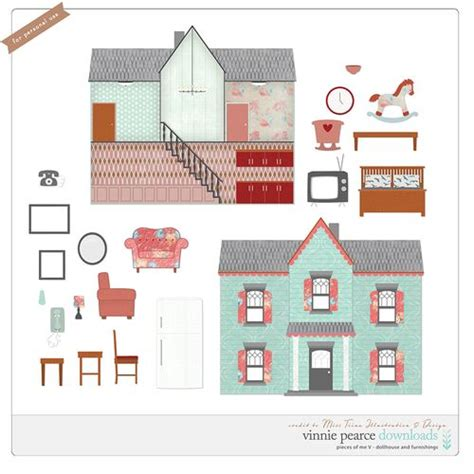dolls house template dolls house kit free printable s perfectly printable freebies