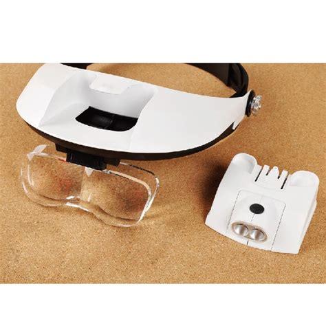 Kacamata Pembesar Reparasi Jam Atau Perhiasan 11x Magnifier 2 Led kacamata pembesar reparasi jam 11x magnifier 2 led white jakartanotebook