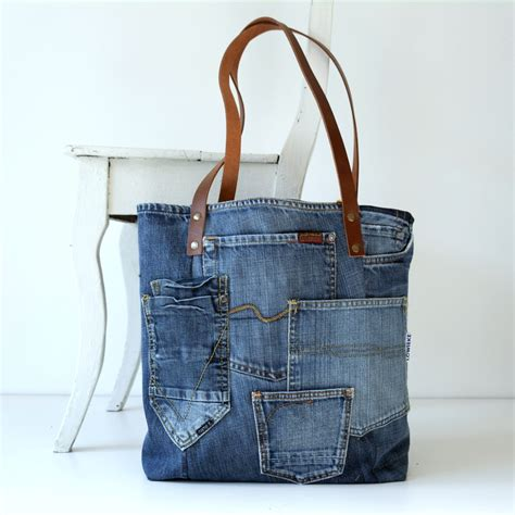 tutorial tas levis denim canvas tote bag with lots of pockets jeans bag