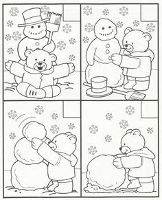 snowman hidden pictures printable find the differences puzzle snowmen and many more find