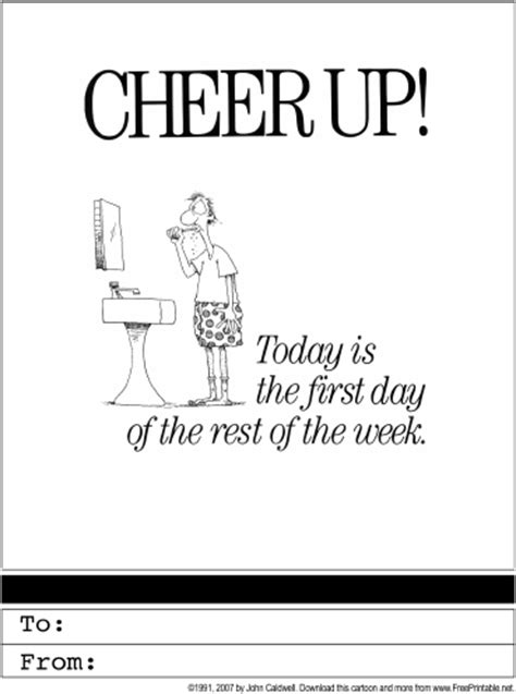 cheer card template cheer up printable greeting card
