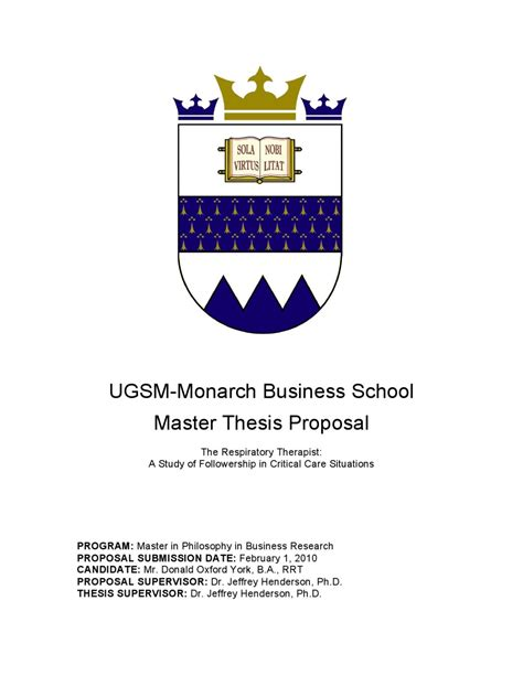 Oxford Mba Application Timeline by Master Thesis Exle By Ugsm Monarch Business