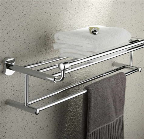 bloombety towel racks for bathrooms with towel grey