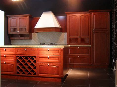 China Solid Wood Cherry Kitchen Cabinet   China American
