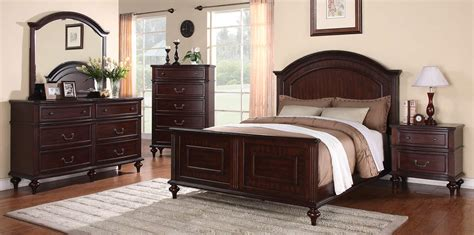 Emily Bedroom Furniture Coaster Emily Bedroom Set Brown Cherry