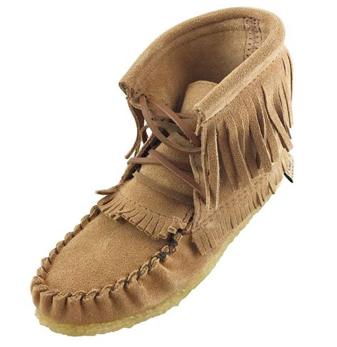 junior slippers youth crepe sole genuine suede ankle moccasins boots with