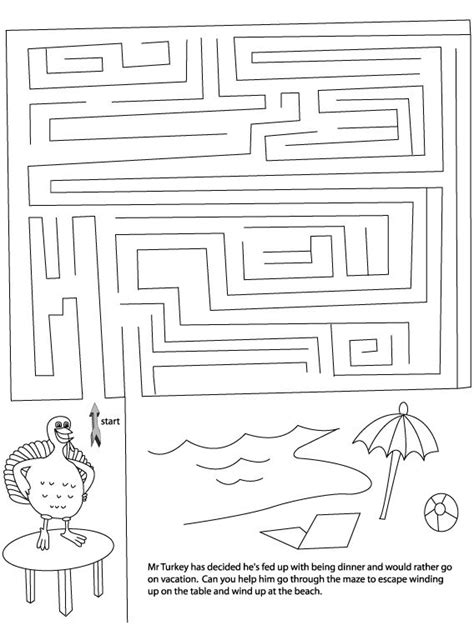 free printable turkey mazes 16 best images about thanksgiving on pinterest maze