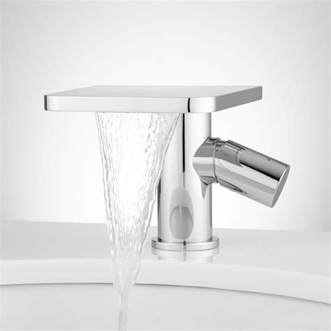 waterfall sink faucets bathroom waterfall bathroom sink faucet style stereomiami
