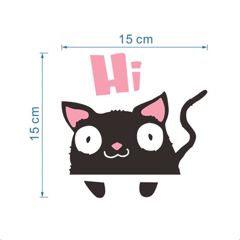 Wallpaper Stiker Dinding 2 sticker wallpaper dinding hi cat black jakartanotebook