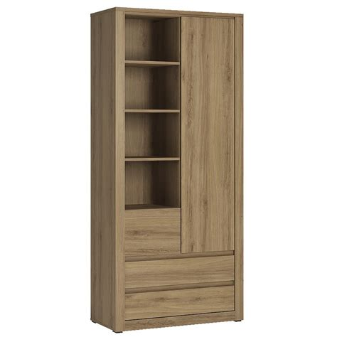 armoire with shelves and drawers hobby 1 door 3 drawer tall cabinet with open shelving in