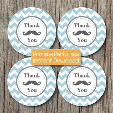 printable mustache gift tags mustache bash thank you favor tags by bumpandbeyonddesigns