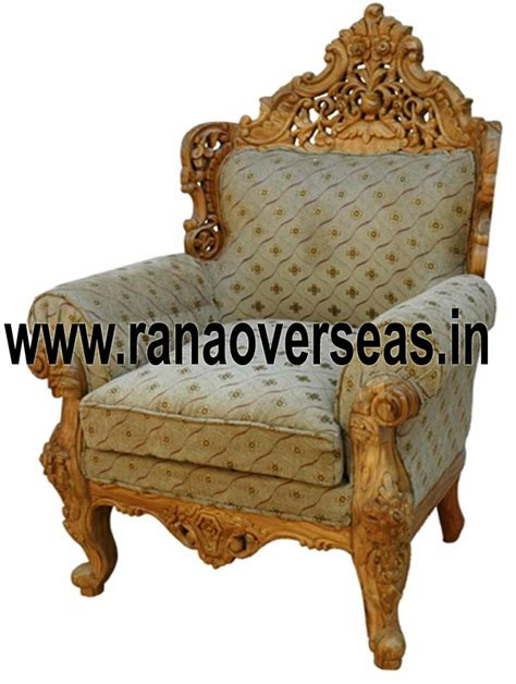 Single Wooden Sofa by Rana Overseas Inc Wooden Chairs