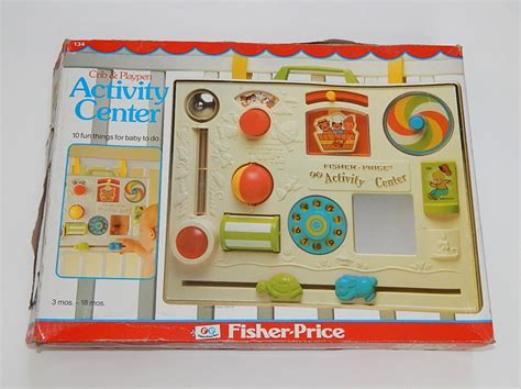 baby crib activity center in box 1984 fisher price retro infant crib activity center