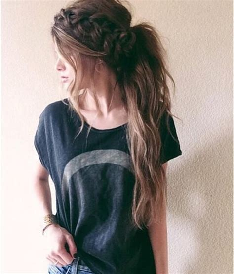 cute hairstyles brown hair 10 lovely ponytail hair ideas for long hair easy doing