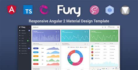 Fury Angular 2 Material Design Admin Template Admin Templates Angular 2 Template