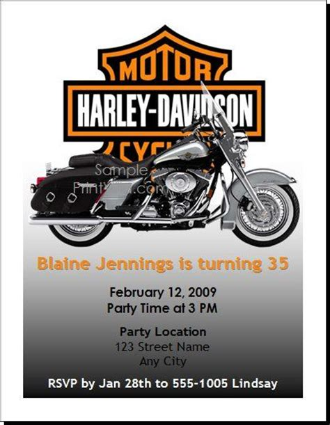 printable birthday cards with motorcycle free printable motorcycle invitations harley birthday
