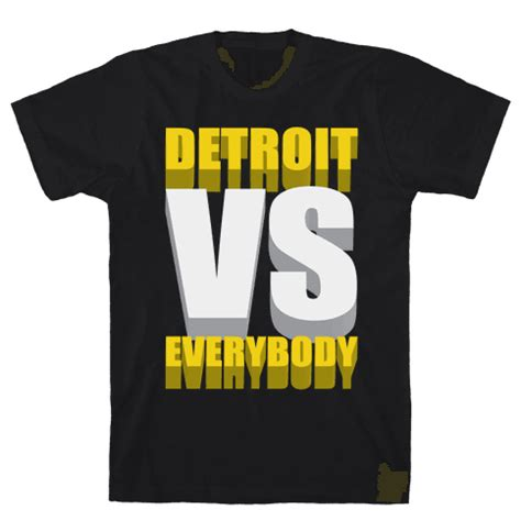 detroit vs everybody tshirt human