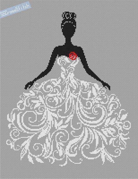 pattern wedding pinterest counted cross stitch pattern bride in wedding dress por