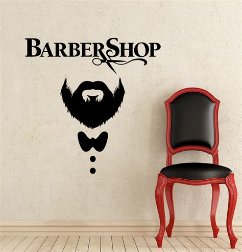 wall decor stickers shopping barber shop wall decal hairdressing salon vinyl sticker decals