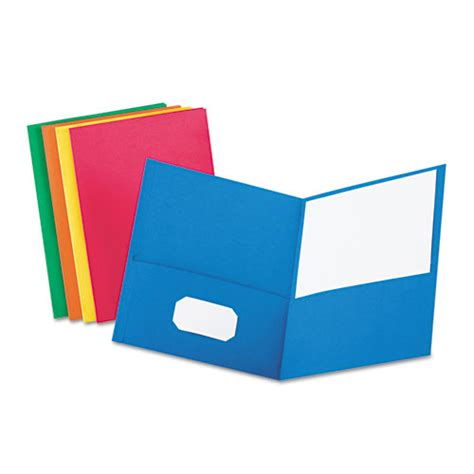 How To Make Paper Pocket Folders - pocket folder embossed leather grain paper assorted