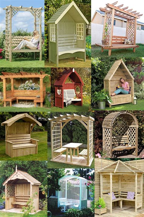 garden arbor bench design ideas diy kits