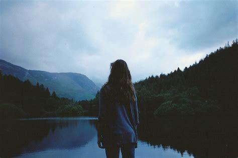 girl mountain tumblr faceless fog girl lagoon mountain image 164851 on