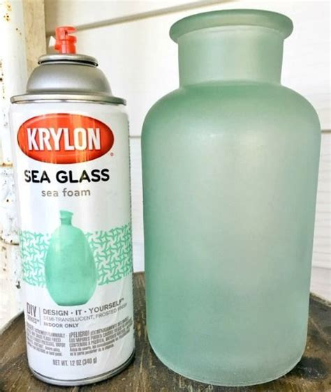 spray painting glass get the seaglass look with sea glass spray paint and