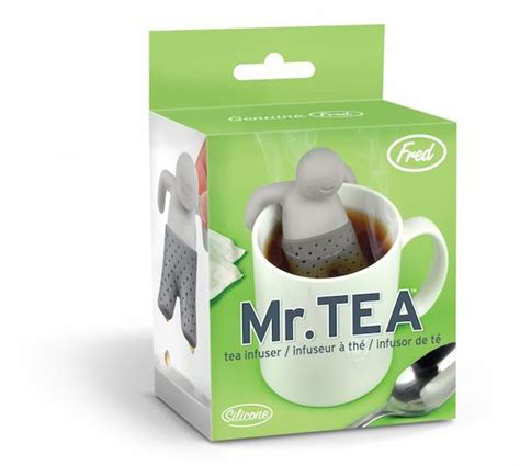 Mr Tea Mr Teh fred and friends mr tea silicone tea infuser only 2 20 normally 10 95 mojosavings