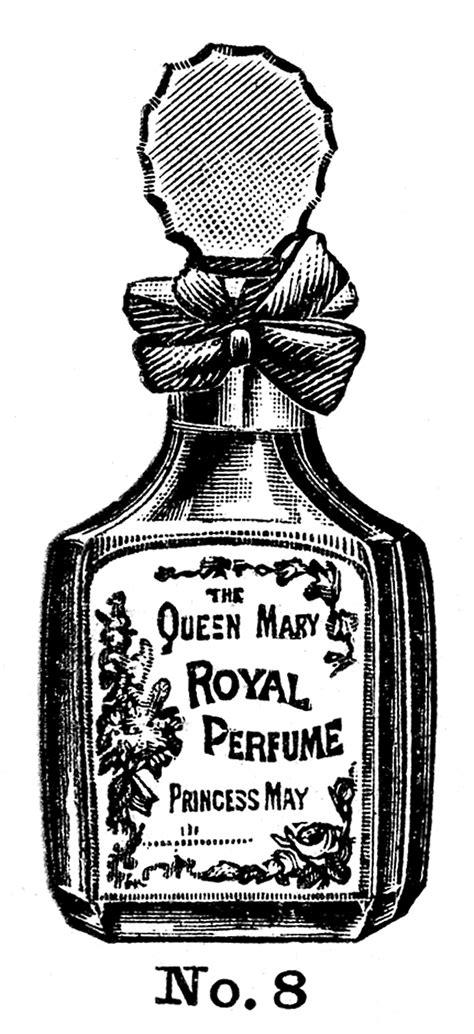 vintage beauty clip art perfume  powder