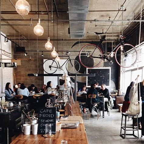 urban coffee shop design industrial styles that draw the eye with lighting even