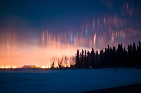 Pillar Of Light by The Stunning Phenomenon Of Light Pillars