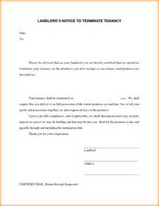 Landlord Agreement Letter 7 Landlord Termination Of Lease Letter Ledger Paper