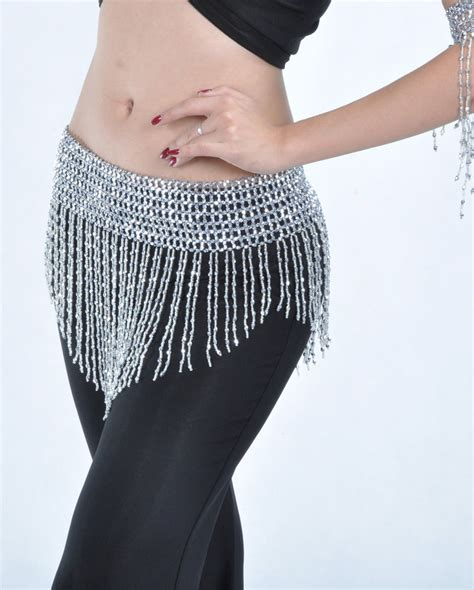 belly hip scarf new belly costume hip scarf bead elastic belt gold