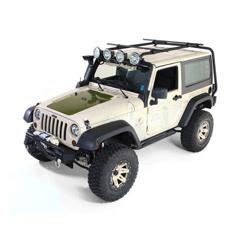 rugged ridge jk rugged ridge 11703 21 sherpa roof rack kit crossbar adapters crossbars 07 16 jeep 2 door